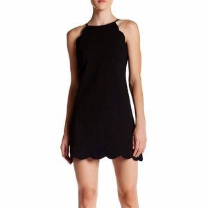 Scallop Trim Shift Dress